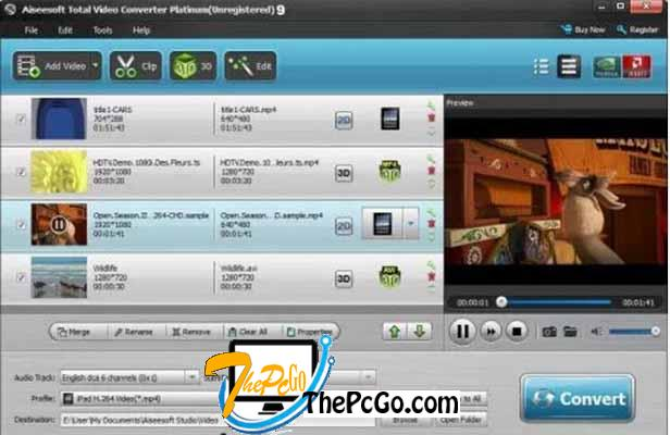 Aiseesoft Total Video Converter 9 free for windows thepcgo
