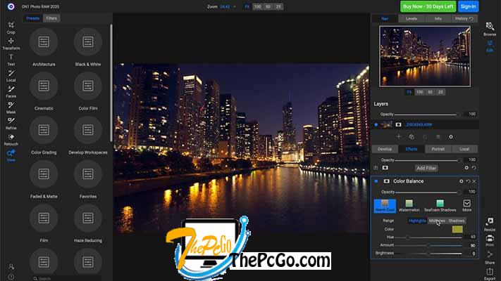 ON1 Photo RAW 2020 14 free for windows thepcgo